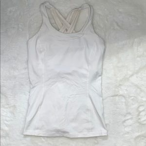 White Lulu Lemon tank top